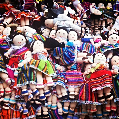 The famous soverigner of Otavalo Market