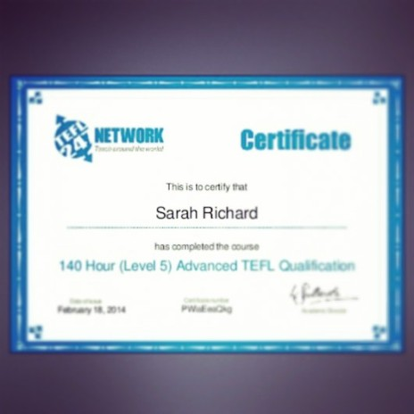 Now a qualified English teacher to teach abroad..eekk