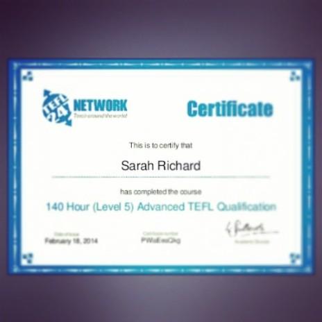 Now a qualified English teacher to teach abroad..eekk